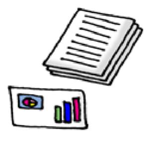 書類や資料のイラスト